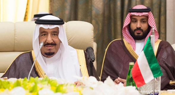 מימין: הנסיך מוחמד ואביו מלך סעודיה סלמן