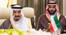 מוחמד בן סלמאן ואביו המלך סלמאן, צילום: אי פי איי