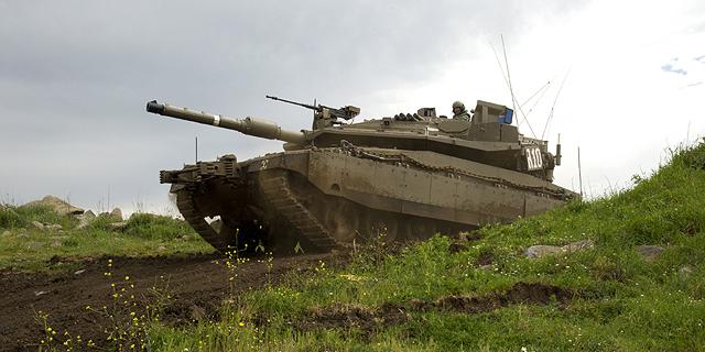 """טנק מרכבה סימן 4 של צה""""ל, צילום: אפי שריר"""