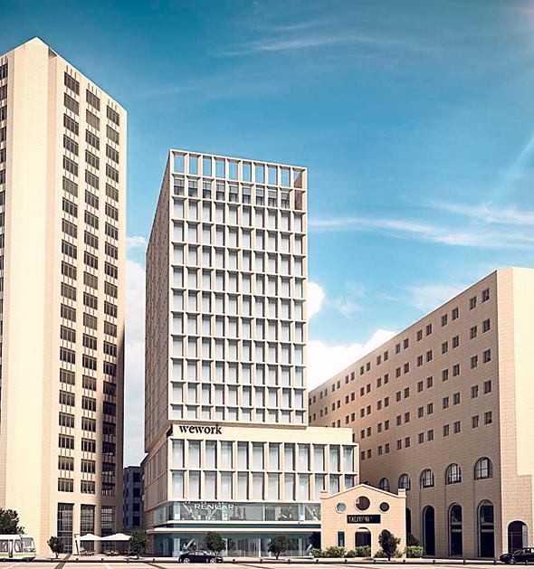 הדמיה של בניין המשביר לאחר תוספת הקומות, קרדיט: משרד קולקר קולקר אפשטיין אדריכלים