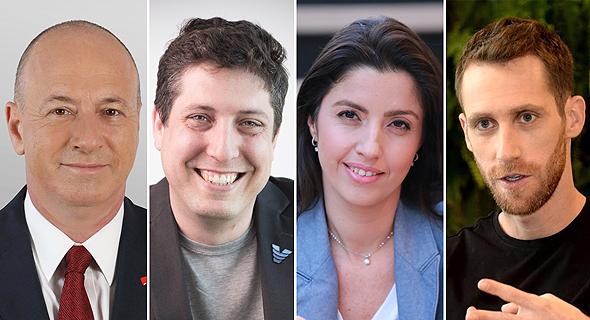 Left to right: Golan Scherman, David Golan, Hila Goldman-Aslan, and Assaf Rappaport