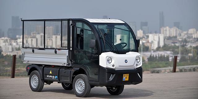 המשאיות הזעירות והחשמליות של GOUPIL הצרפתית הגיעו לישראל