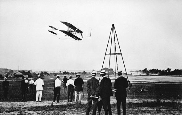 אחת הטיסות הראשונות של האחים רייט