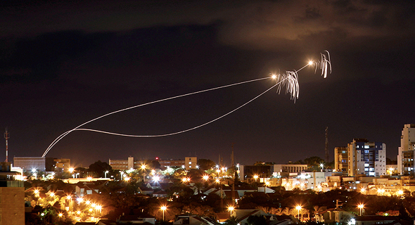An Iron Dome system in action in southern Israel. Photo: Reuters
