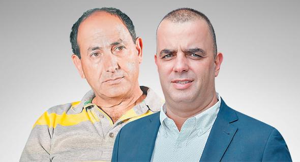 מימין מבעלי ויקטורי אייל רביד ומבעלי שיווק השקמה רמי לוי