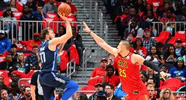 לוקה דונצ'יץ' בדאלאס מאבריקס NBA , צילום: גטי אימג'ס
