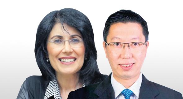 """סמנכ""""ל השיווק של ST אנג'נירינג צ'ו מן ליאונג וסמדר איצקוביץ', מנהלת מעבדה לתחבורה חכמה"""
