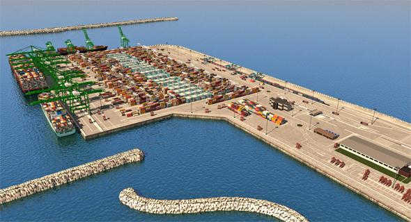 הדמיית נמל אשדוד החדש