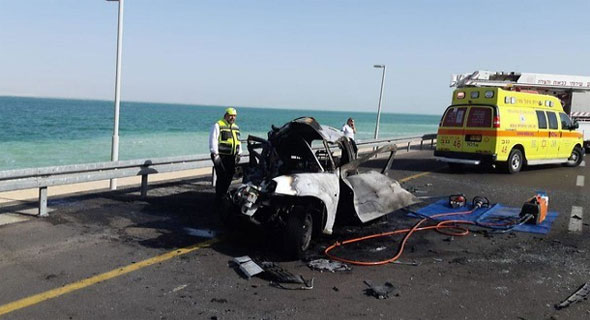 התאונה סמוך לים המלח