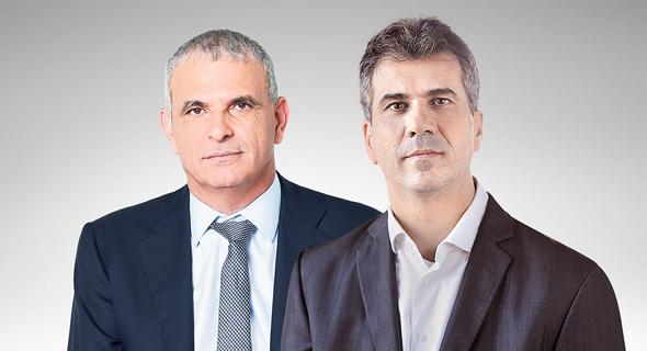 מימין: שר הכלכלה אלי כהן ושר האוצר משה כחלון