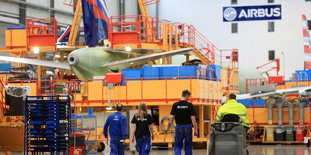 מפעל  של איירבוס בהמבורג, צילום: בלומברג