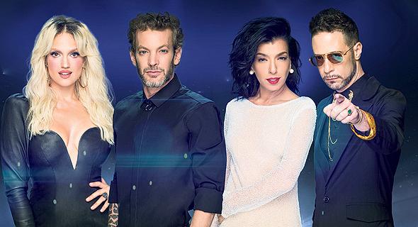שופטי The Four של רשת. מימין: גלעד כהנא, דיקלה, דני ניב, מוקי ומארינה מקסימיליאן