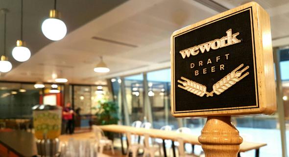 בירה חופשית משרדי WeWork לונדון , צילום: azuccariniblog