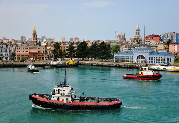 נמל בטומי. עלייה של יותר מ-20% בתיירות הנכנסת למדינה