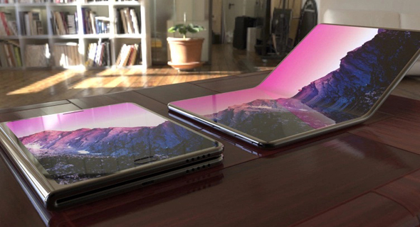 סמסונג גלקסי סמארטפון מתקפל מסך גמיש עיצוב קונספט, צילום: BGR