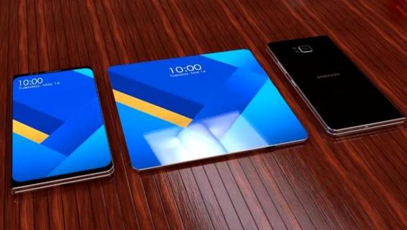סמסונג גלקסי סמארטפון מתקפל מסך גמיש עיצוב קונספט, צילום: deccanchronicle
