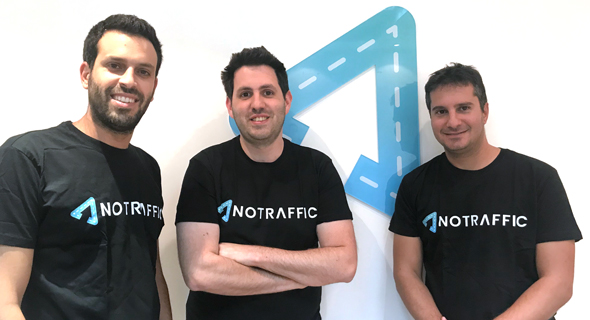 NoTraffic co-founders Or Sela (left), Uriel Katz, and Tal Kreisler. Photo: PR and