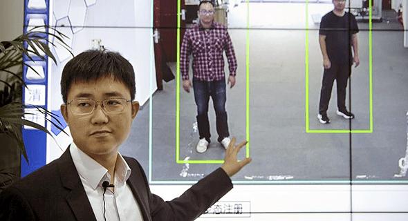 מערכת זיהוי ההליכה מודגמת בסין