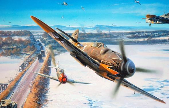 איור של טייסת 52 בקרב, צילום: 1zoom