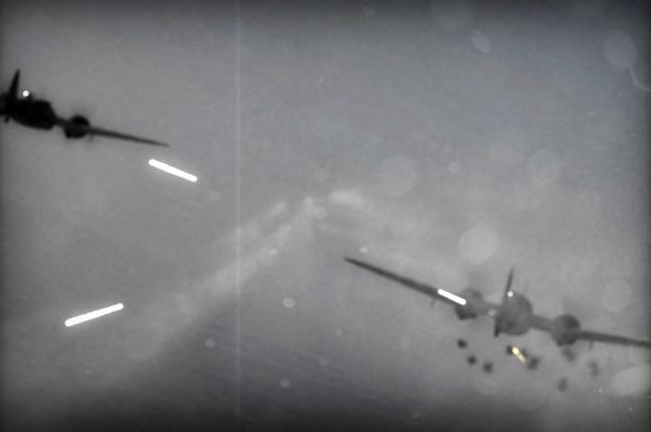 הדמייה של ירי במפציצים מאחור, צילום: SIMHQ