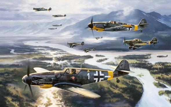 איור מטוסי מסרשמיט 109 בחזית המזרחית