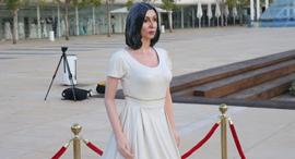 פסל של מירי רגב ב כיכר הבימה, צילום: מוטי קמחי