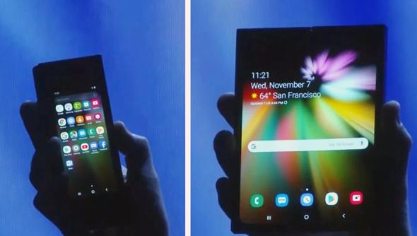 סמסונג מסך גמיש טלפון מתקפל , צילום: 9to5google
