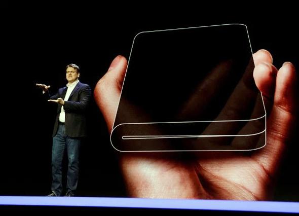 סמסונג מסך גמיש טלפון מתקפל , צילום: new york post