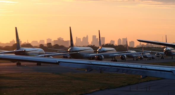 פקק על המסלול בנמל התעופה JFK, צילום: שאטרסטוק