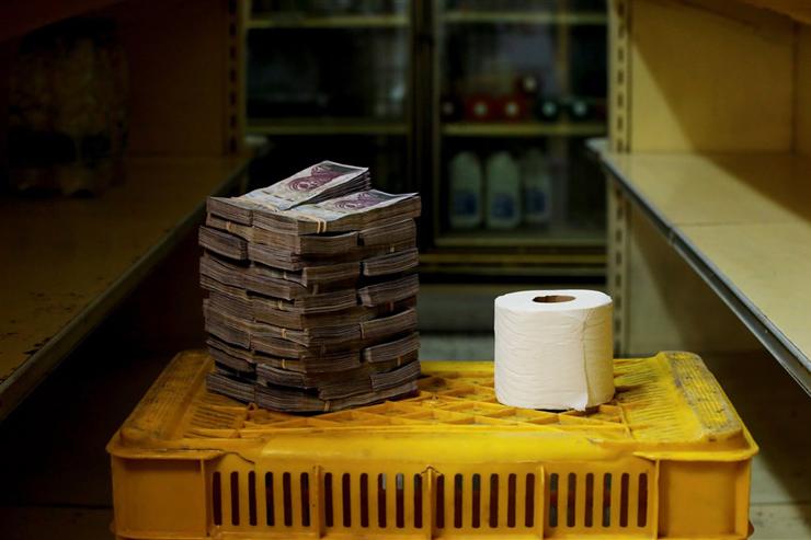 נייר טואלט בוונצואלה - 2.6 מיליון בוליבר (40 סנט)