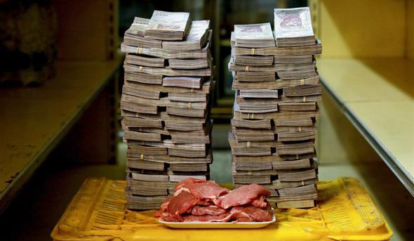 ונצואלה אינפלציה קילו בשר 9.5 מיליון בוליבר 1.45 דולר, צילום: רויטרס