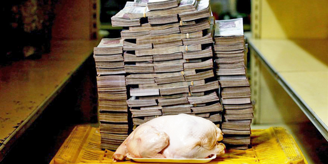 """דו""""ח: האינפלציה בונצואלה - 833,997% ב-12 החודשים האחרונים"""