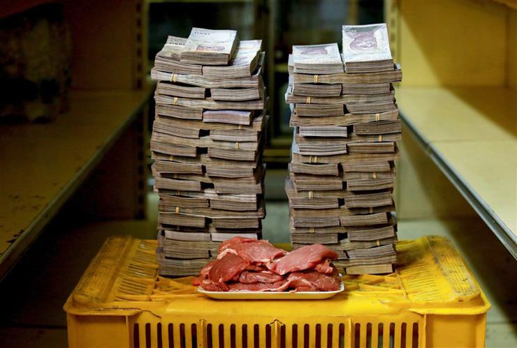 קילו בשר - 9.5 מיליון בוליבר (1.45 דולר)
