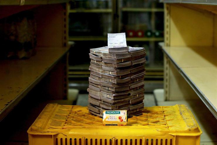 סבון - 3.5 מיליון בוליבר (53 סנט), צילום: רויטרס