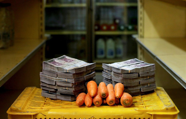 קילו גזר - 3 מיליון בוליבר (46 סנט)