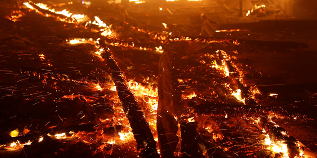 השריפות בקליפורניה, צילום: STEPHEN LAM