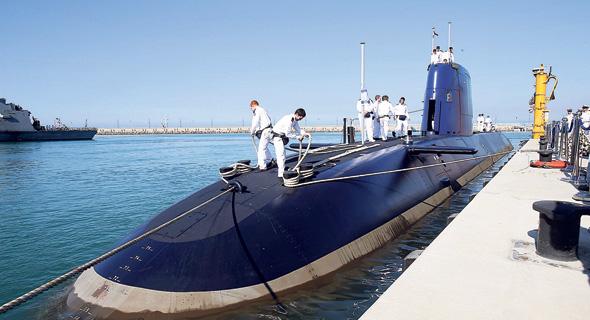 """טקס קבלת הצוללת אח""""י רהב בבסיס חיל הים בחיפה"""