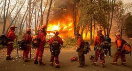 שריפות הענק בקליפורניה, צילום: EPA