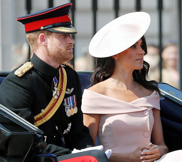 הנסיך הארי ומייגן מרקל בחתונתם, צילום: איי פי