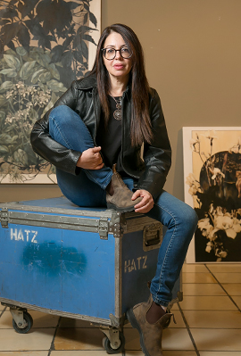 הציירת ענת בצר פנאי, צילום: אוראל כהן
