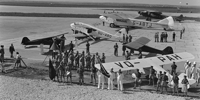 The graduation ceremony of the first batch of Jewish air force pilots in 1939. Source: Wikimedia