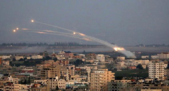 ירי רקטות מרצועת עזה אל שטח ישראל
