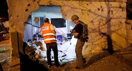 ירי רקטות עזה חמאס רקטה אשקלון, צילום: איי אף פי