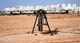 רחפן של Civdrone סיבדרון שותל יתד אתר בנייה, צילום: Civdrone