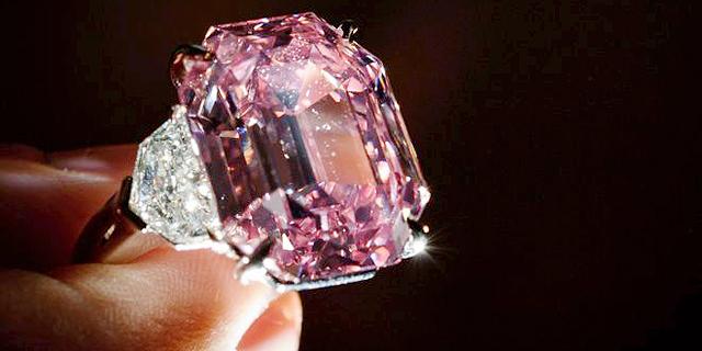 יהלום ורוד נדיר בגודלו נמכר במחיר שיא