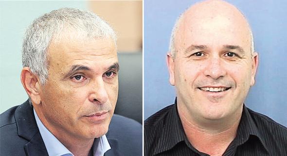 """מימין: מנכ""""ל אסותא פרופ' ארי שמיס ושר האוצר משה כחלון, צילום: אלכס קולומויסקי"""