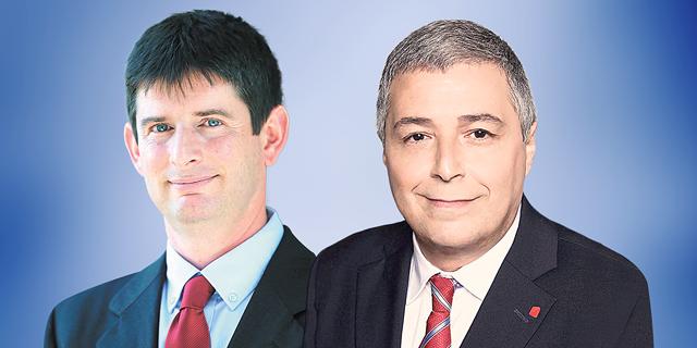 "מימין מנכ""ל בנק הפועלים אריק פינטו ומנכ""ל ישראכרט רון וקסלר, צילום: סיון פרג"