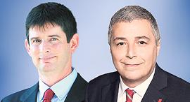 "מימין מנכ""ל בנק הפועלים אריק פינטו ומנכ""ל ישראכרט רון וקסלר, צילום: סיון פרג'"