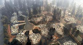 שריפה קליפורניה פרדייס , צילום: אם סי טי