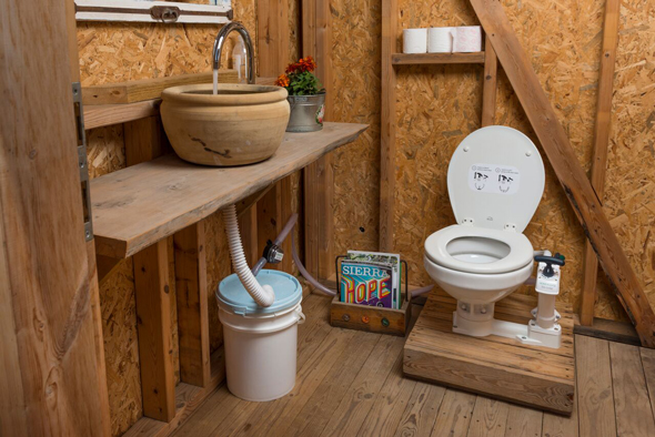 HomeBiogas off – grid  Bio-Toilet set up . Photo: PR